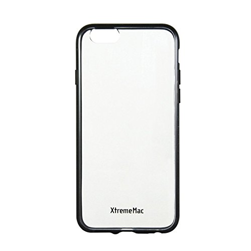 Soft Grip Back Clear Case for XtremeMac iPhone6   Microshield Accent Black Ipp-MA6-13 (Black Microshield Cases)