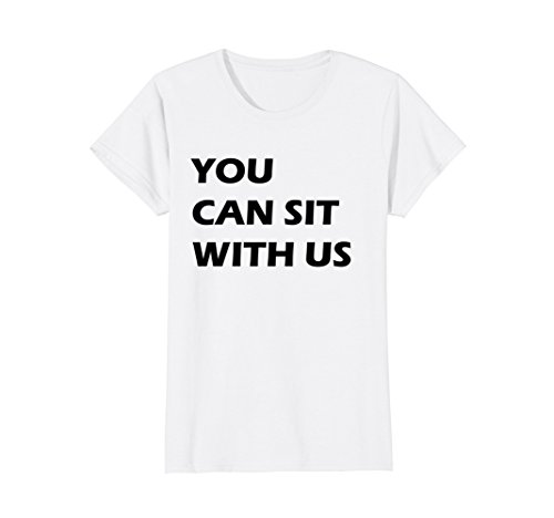 Womens You Can Sit With Us Designer Shirt Medium White