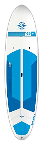 BIC Sport Tough-TEC Performer Sup Stand Up Paddleboard, White/Blue/Blue, 106