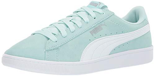 PUMA Women's Vikky Sneaker fair Aqua White, 7 M US