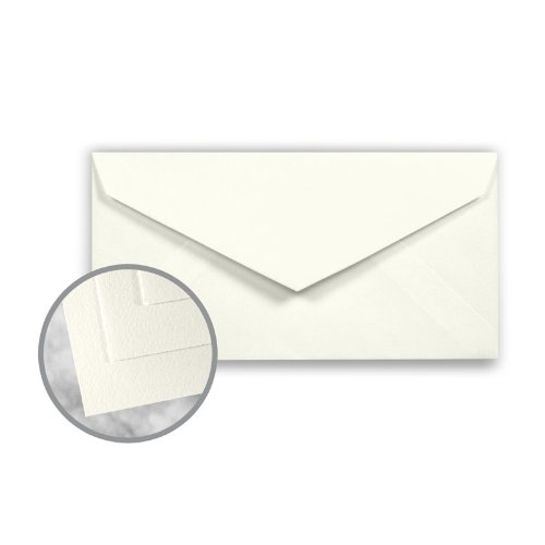 Strathmore Writing Natural White Envelopes - Monarch (3 7/8 x 7 1/2) 24 lb Writing Wove 25% Cotton Watermarked 500 per Box by Mohawk Fine Papers Strathmore Writing