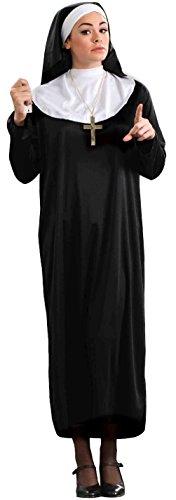 Forum Novelties Women's Plus-Size Nun Plus Size Costume, Black, -