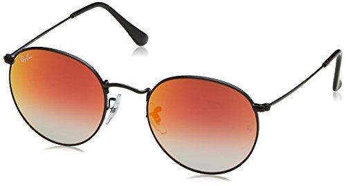 Ray-Ban RB3447 002/4W Non-Polarized Sunglasses, Black/Orange Gradient Flash, 53 - Ray Orange Clubmaster Ban