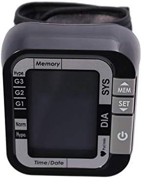 smartLAB easy nG Blutdruckmessgerät für Handgelenk | Handgelenk Blut Druck Gerät Schwarz und großem LCD Display