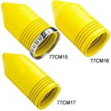 Hubbell Wiring Systems HBL77CM17 Twist-Lock Ship-to-Shore Seal-Tite Cover for Weather Proofing 50A Connector Bodies, Yellow