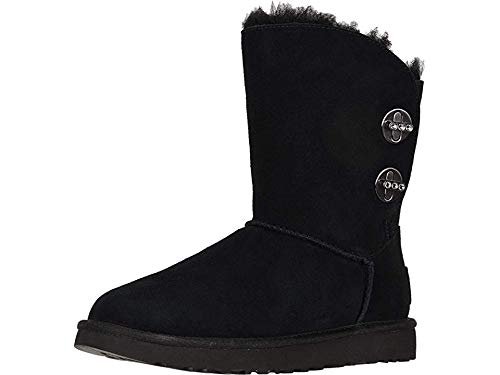 (UGG Womens Short Turnlock Bling Boot, Black, Size 10)