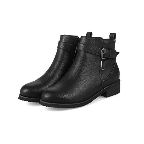 studenti versatili stivali bassi e stivali stivali bassi bassi con DEDE autunno inverno Lato Sandalette black per da versatili donna qBHcTR77