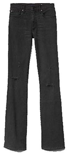 Gap Flare Jeans - GAP Womens Black Denim Resolution Destructed Skinny Flare Jeans 25/0