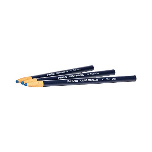 DIXON Industrial Phano Peel-Off China Marker Pencils, Blue, 12-Pack (00080)