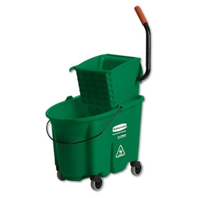RCP758888GRE - WaveBrake Side-Press Wringer/Bucket Combo by Rubbermaid