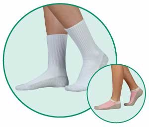 - Juzo Knee High Silver Sole Socks for Sensitive Feet, XLarge W-13+, M-12 to 14, White
