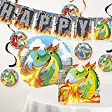 Creative Converting Dragon Birthday Party Decorations -