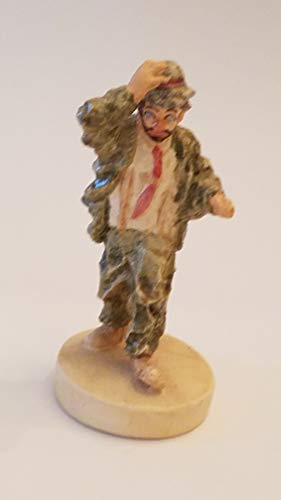 "Sebastian Miniatures Vintage The Clown: Hobo Clown Holding onto hat Approx 3 1/4"" No Packaging"