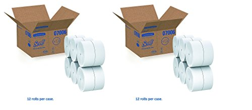 Scott 07006 Coreless JRT Jr. Rolls, 2-Ply, 1150ft (Case of 12 Rolls) (2-(Case of 12 Rolls))