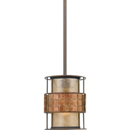 (Quoizel MC842PRC Laguna Mica Drum Mini Pendant Lighting, 1-Light, 60 Watts, Renaissance Copper (9