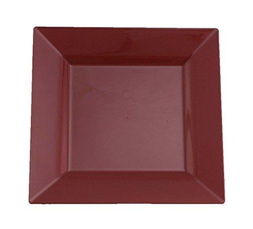 Kaya Collection - プラスチック正方形 9インチおよび6インチのレート – 使い捨てまたは再利用可能 9.5