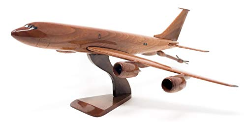 KC-135 stratotanker Replica Aircraft Model Hand Crafted with Real Mahogany (Mahogany Model Aircraft)