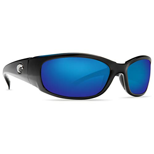 Costa Del Mar Hammerhead Sunglasses, Shiny Black/Blue Mirror 580Plastic from Costa Del Mar