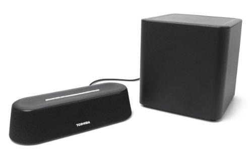 Toshiba PA5075U-1SPA Mini 3D Sound Bar with Subwoofer (Black) (Toshiba Bluetooth Cable)