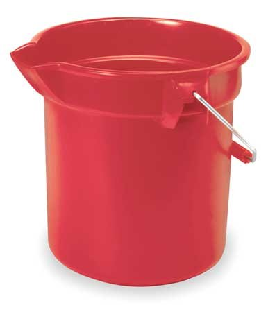 Bucket, 3-1/2 gal., Red