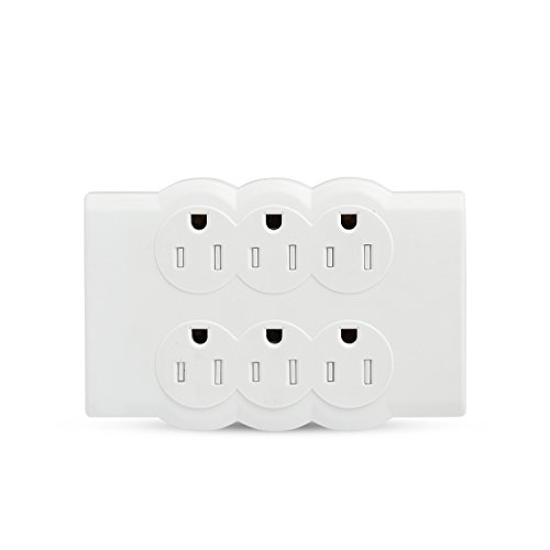BULL Wall Mounted Electrical Outlet Surge Protector Power Strip White, Portable Mini Wall Tap Socket, UL Listed,200 Joules