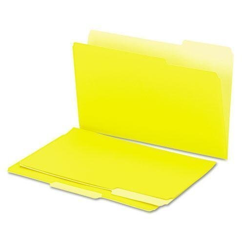 Recycled Interior File Folders, 1/3 Cut Top Tab, Legal, Yellow, 100/Box, Sold as 1 Box by UNIVERSAL