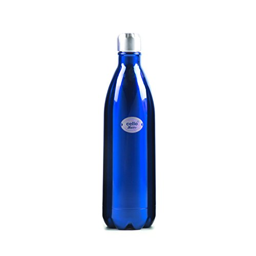 Cello Swift Stainless Steel Bottle, 1 Litre, Blue