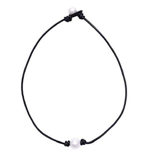 Orcbee  _Fashion Simple Imitation Pearl Necklace Clavicle Chain Ladies Jewelry