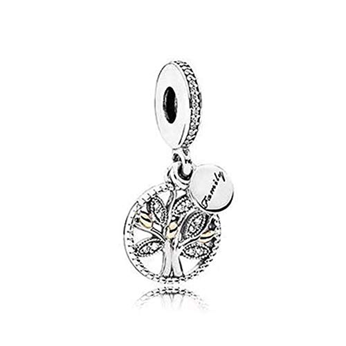 (SUNWIDE Family Charms Tree of Life Bead Charms Sterling Silver fit Pandora Charms Bracelets (Silver))