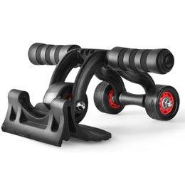 【まとめ 5セット】 ITPROTECH 3輪腹筋トレーニングローラー YT-ABR-3R   B07KNSXNDD