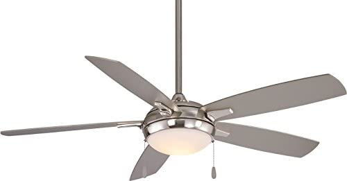 Minka Aire F534L-BN LUN-AIRE, 54 5-Blades LED Ceiling Fan in Brushed Nickel Finish with Silver Blades