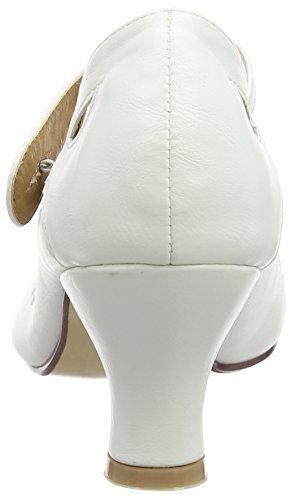 opaco donna Ajvani tacco Scarpe Bianco col HwxAxTqB