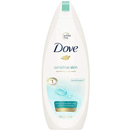 Beauty Body Wash - Dove Sensitive Skin Beauty Body Wash 12 oz (Pack of 2)