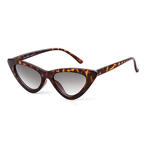 Retro Vintage Cat Eye Sunglasses for Women Clout Goggles Plastic Frame Glasses Kurt Cobain Sunglasses (Leopard, 51) ()