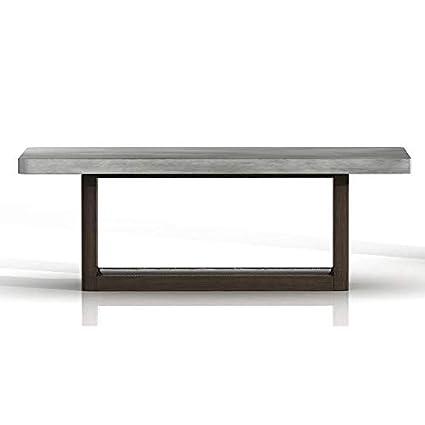 Amazon Com Benzara Bm185259 Concrete Top Coffee Table With Wooden