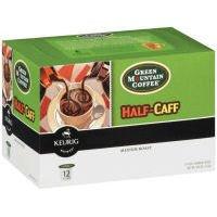 Green Mountain Coffee Half-Caff Medium Roast Keurig Brewed K-Cups, 12 ct (Pack of 6)