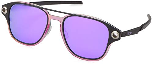 Oakley Men's OO6042 Coldfuse Square Titamium Sunglasses, Matte Black/Violet Iridium Polarized, 52 ()