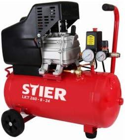 Toro Compresor LKT 260 – 8 de 24, 1,1 kW de motor, Max Impresión 8 bares, ruedas de goma, ideal para aplicaciones de presión aire |: Amazon.es: Bricolaje y herramientas
