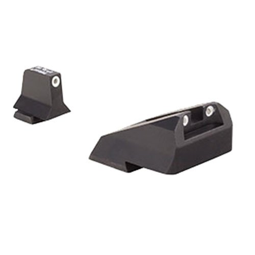 (Trijicon Night Sights/Suppressor Sights/Smith & Wesson Bright & Tough Night Sight Suppressor Set with White Front, White Rear & Green Lamps for S&W M&P, SD9 Ve & SD40 Ve)