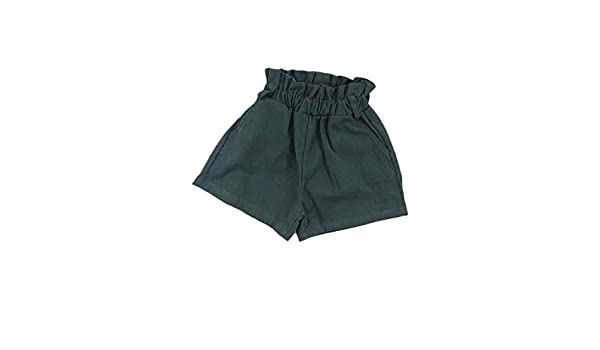 Joe Wenko Girl Classic Pure Color Cotton Loose Cute Washed Shorts