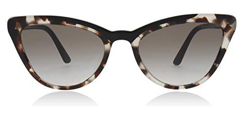 Prada PR01VS 3980A7 Brown/Black PR01VS Cats Eyes Sunglasses Lens Category 2 - Lens Brown Prada