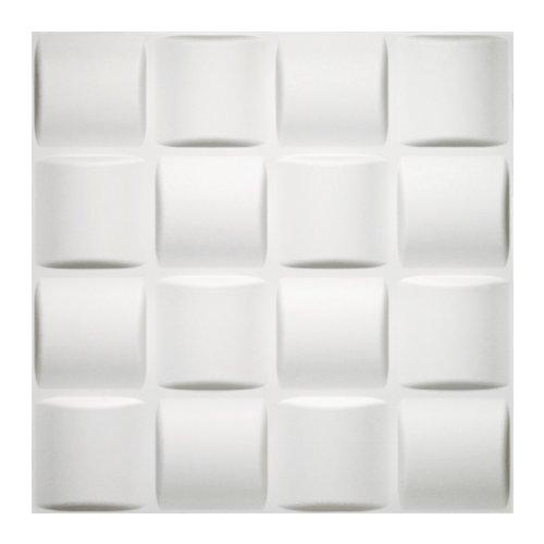 Donny Osmond Home 3DWTBSKT06 Basket Weave 3D Self Adhesive Wall Tiles, 10-Pack