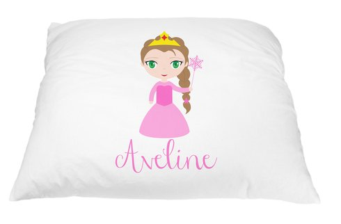 Personalized Kid's Princess Pillowcase Microfiber Polyester 20 by 30 Inches, Pillow Princess, Princess Pillows for Girls, Toddler Princess Pillow Cover, Custom Pillowcase, Personalized Gifts