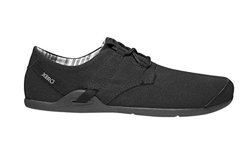 Schoenen Xero Lena - Casual Canvas Blootsvoets Geïnspireerde Schoen - Lichtgewicht, Zero-drop - Vrouwen Zwart / Zwart