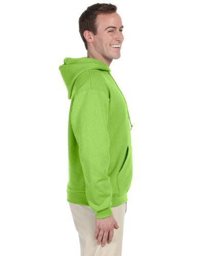 JERZEES Mens NuBlend Pullover Hooded Sweatshirt, 2XL, Neon G