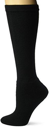 Dr. Scholl's Unisex-Adult's Men's 1 Pack Coolmax Firm Support Socks, Black, Shoe Size: 7.5-10 ()
