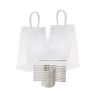 Amazon.com: Amiff, bolsas de papel para la compra de 5,25 x ...