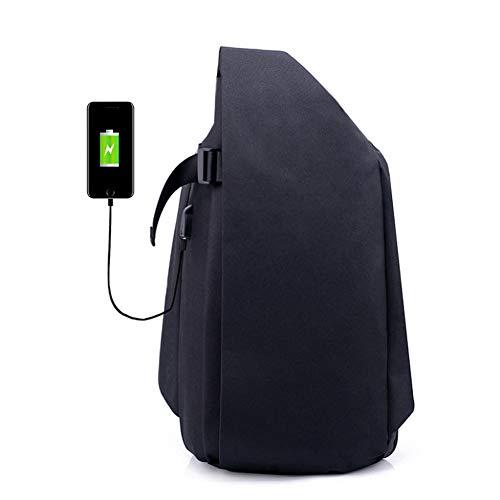 Anti Capacidad Carga Zhrqinss Gran con Negocios Portátil Hombres Casual Puerto 2 Inteligente De USB De Lona De Mochila Robo xTqAYTHO