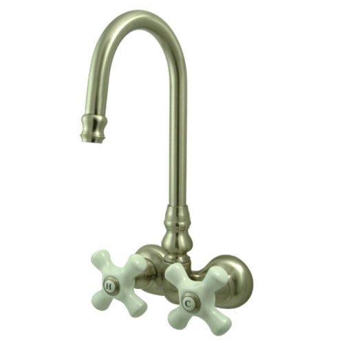 (Kingston Brass CC79T8 Vintage Leg Tub Filler, Brushed)