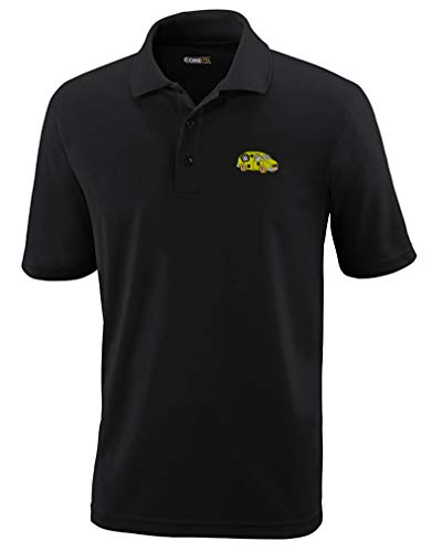 Polo Performance Shirt Pet Grooming Van Embroidery Design Polyester Golf Shirt for Men Black Medium Design Only - Embroidery Designs Golf